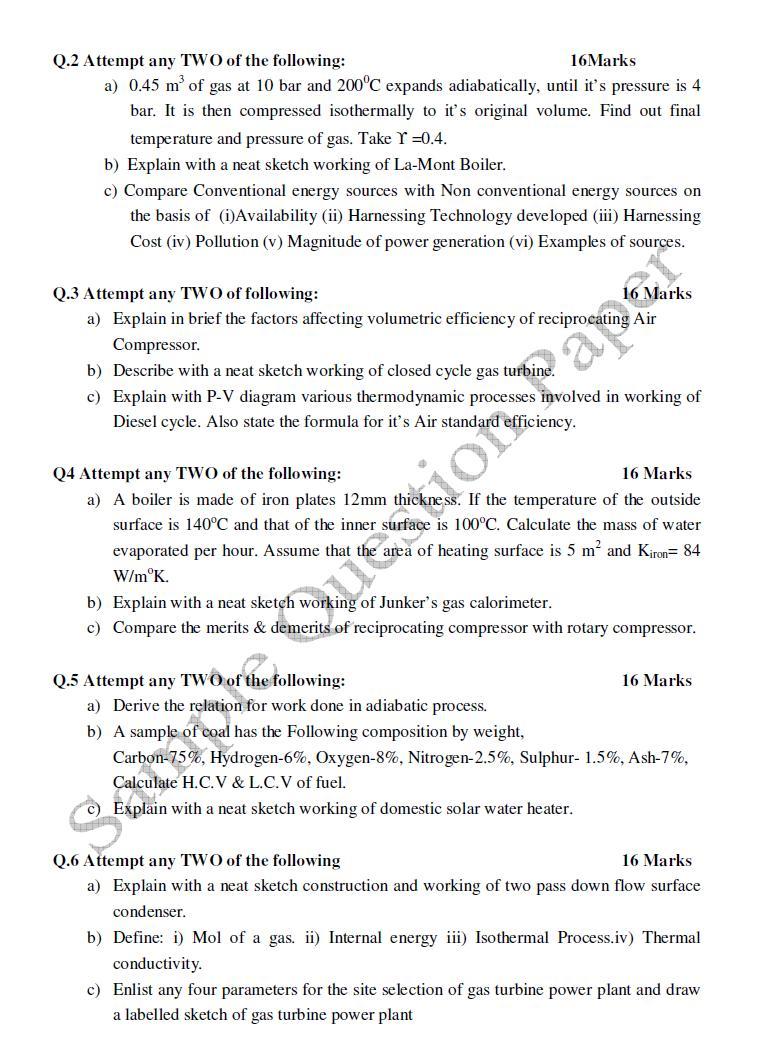 Maharashtra State Board of Technical Education 2012 Diploma