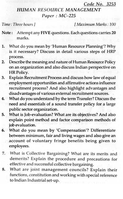 question paper on human resource management Ugc net human resource management code-55 2,371 likes human resource management for check   for 6000 mcqs + 11yrs question papers and.