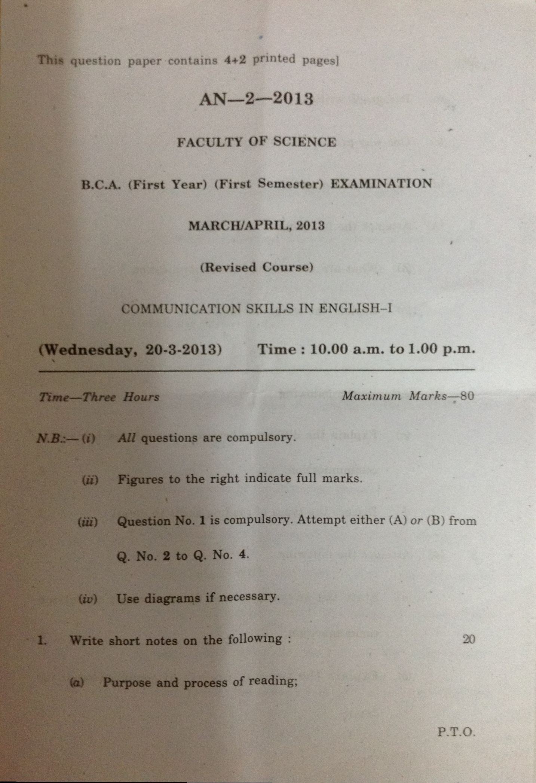 B C A-B C A Computer Application 1st Sem Communication Skills in