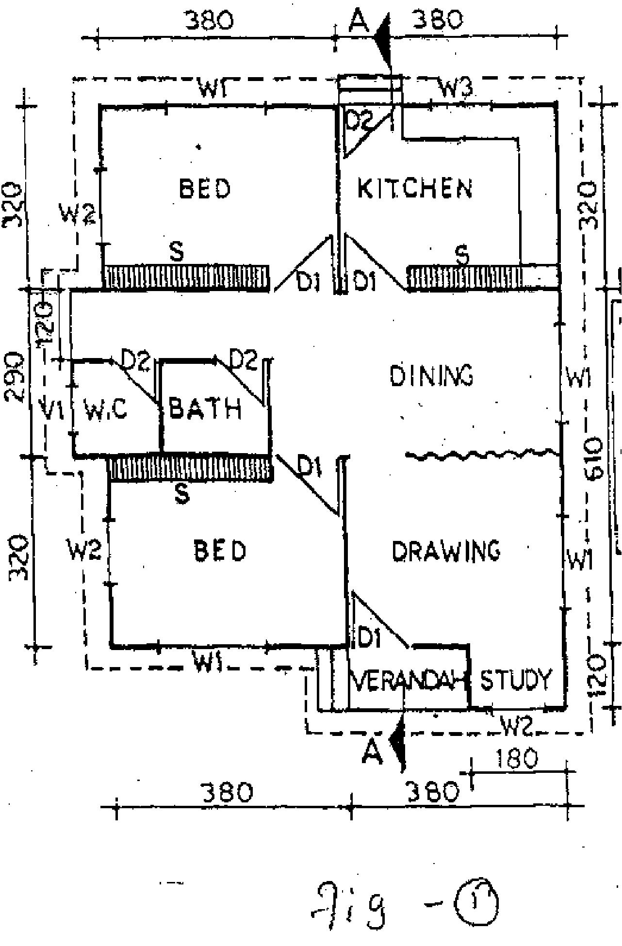 Bharathiar University 2007 5th Sem Be Civil Engineering I Figno1 Simple Wiring Diagram For A Residential Building Q No